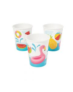 Pool Party Paper Cups