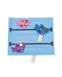 Pool Shark Swimmer Pop-Up Craft Kit