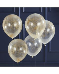 Pop the Bubbly - Balloons - Angle Hair - Gold