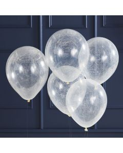 Pop the Bubbly - Balloons - Angle Hair - Silver