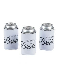 Premium Neoprene with the Bride Can Coolers