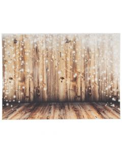 Premium Rustic Twinkling Lights Backdrop