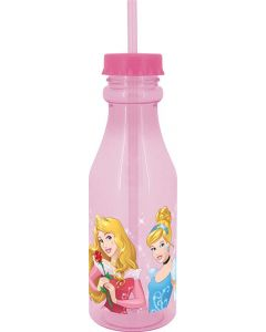 Princess Charms Sky Bottle with Straw