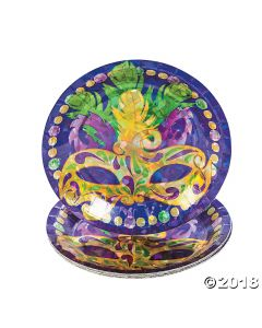 Prismatic Mardi Gras Dessert Plates