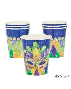 Prismatic Mardi Gras Paper Cups