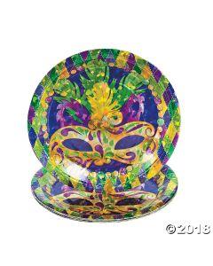 Prismatic Mardi Gras Paper Plates