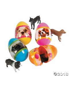 Puppy-filled Plastic Easter Eggs