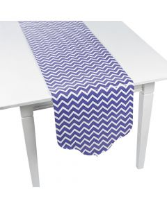 Purple Chevron and Polka Dot Table Runner
