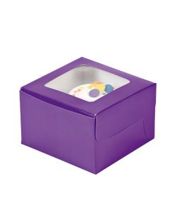 Purple Cupcake Boxes
