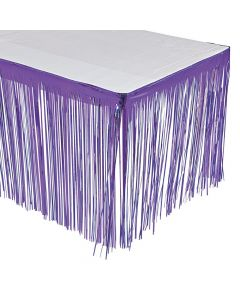 Purple Fringe Table Skirt