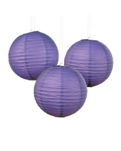 Purple Hanging Paper Lanterns