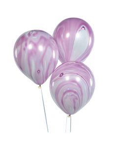 Purple Marble Latex Balloons