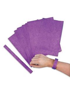Purple Self-Adhesive Wristbands