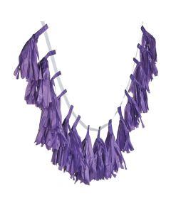 Purple Tassel Garland