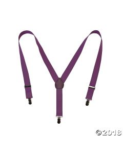 Purple Team Spirit Suspenders
