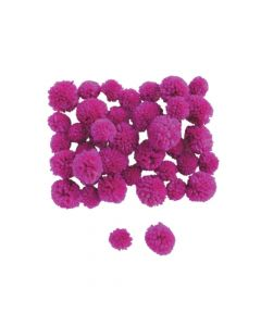 Purple Yarn Pom-Poms