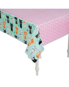 Purr-Fect Party Plastic Tablecloth