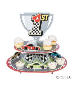 Race Car Birthday Cupcake Stand