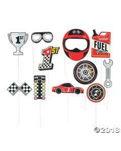 Race Car Photo Stick Props