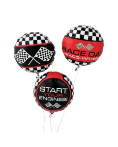 Racing Print Mylar Balloons