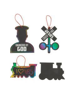Railroad VBS Magic Color Scratch Ornaments