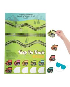 Railroad VBS Pin the Train on the Track Game