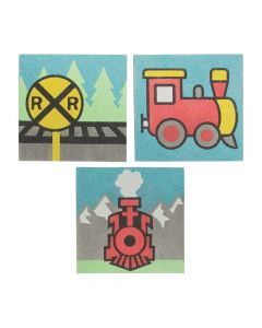 Railroad VBS Sand Art Pictures