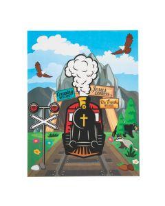 Railroad VBS Sticker Scenes