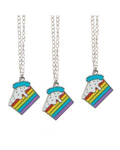 Rainbow Cake Necklaces