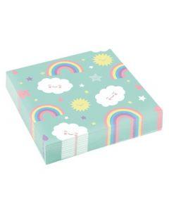 Rainbow & Cloud Napkins