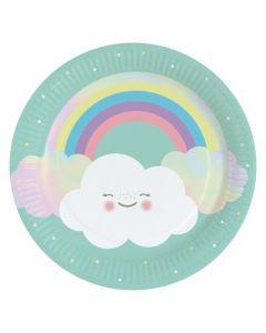 Rainbow & Cloud Paper Plates
