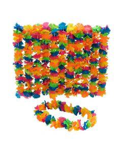 Rainbow Fringe Leis - 12 Pc.
