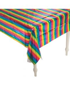 Rainbow Metallic Foil Tablecloth