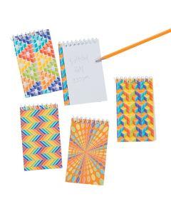 Rainbow Optical Illusion Spiral Notebooks