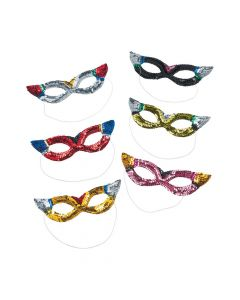 Rainbow Sparkling Sequin Masks
