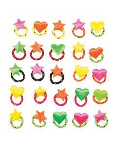 Rainbow Weave Rings
