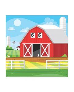 Red Barn Backdrop Banner