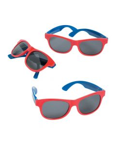 Red and Blue Two-Tone Sunglasses