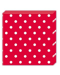 Red Dots Lunch Napkin