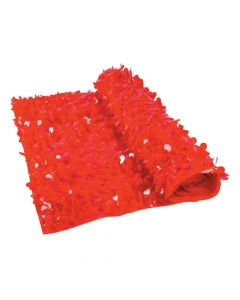 Red Floral Sheeting Backdrop