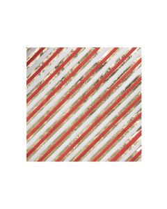 Red & Gold Striped Christmas Paper Napkin