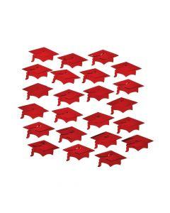 Red Graduation Cap Confetti