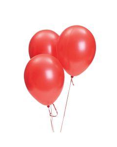 "Red Metallic 11"" Latex Balloons"