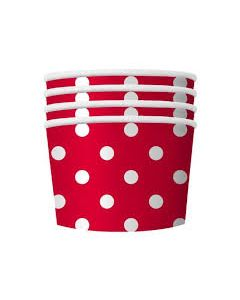 Red Polka Dot Treat Cups
