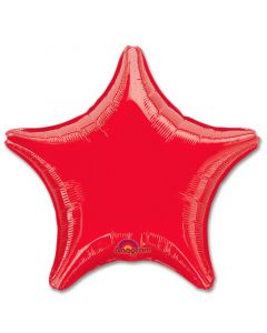Metallic Red Star  Foil Balloon