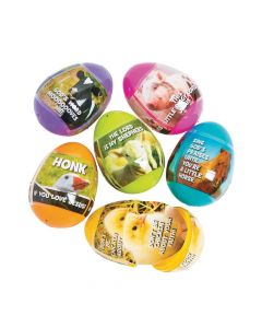 Religious Farm Animal Sticker-Filled Easter Eggs