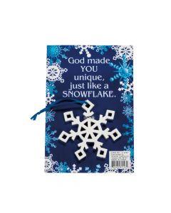 Religious Snowflake Christmas Ornaments