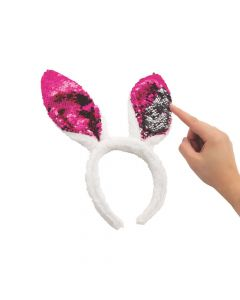 Reversible Sequin Bunny Ears Headbands