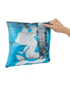 Reversible Sequin Mermaid Pillow