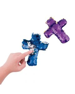 Reversible Sequin Plush Crosses